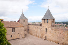 Kasztel Carcassonne Fotografia Royalty Free