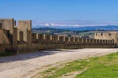 Kasztel Carcassonne Du Canigou i Pic Obrazy Royalty Free