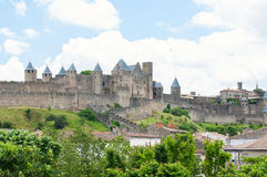 Kasztel Carcassonne. Francja Zdjęcia Royalty Free