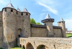 Kasztel Carcassonne, Languedoc Roussillon Fotografia Royalty Free