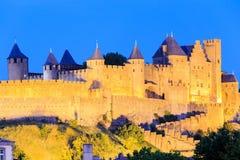 Kasztel Carcassonne, Languedoc Roussillon Zdjęcia Stock