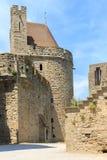 Kasztel Carcassonne, Languedoc Roussillon Obraz Stock