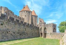 Kasztel Carcassonne, Languedoc Roussillon Zdjęcia Royalty Free