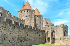 Kasztel Carcassonne, Languedoc Roussillon Zdjęcie Royalty Free