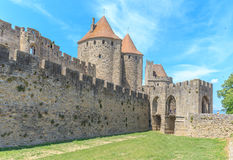 Kasztel Carcassonne, Languedoc Roussillon Fotografia Stock