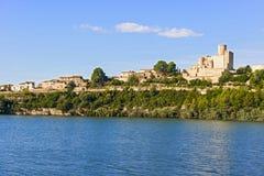 Kasztel Castellet blisko Barcelona, Hiszpania Zdjęcia Royalty Free