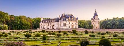 Kasztel De Chenonceau lub górska chata, Francja obrazy royalty free