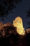 Kasztel grimaud przy nocą, France Obraz Royalty Free