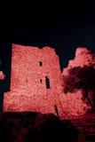 Kasztel grimaud przy nocą, France Zdjęcia Royalty Free