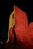 Kasztel grimaud przy nocą, France Obraz Stock