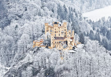 Kasztel Hohenschwangau w Niemcy. Bavaria Obraz Stock