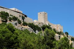 Kasztel, Jaen, Hiszpania. Obrazy Royalty Free