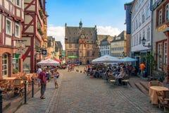 Kasztel Marburg, Hessen, Niemcy zdjęcia royalty free