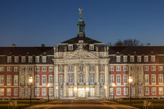Kasztel Muenster przy nocą, Niemcy Obrazy Royalty Free
