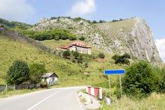 Kasztel na górze wzgórza zdjęcia stock