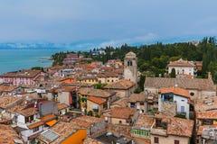Kasztel na Jeziornym Gardzie w Sirmione Włochy Obraz Stock