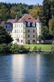 Kasztel na jeziornym Starnberg Obraz Royalty Free