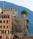 Kasztel na Śródziemnomorskim Zdjęcia Royalty Free