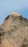Kasztel na skale Palermo, Włochy Obrazy Royalty Free
