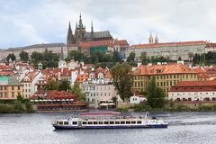 kasztel nad Prague widok Zdjęcie Stock