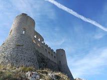Kasztel Rocca calascio obrazy royalty free