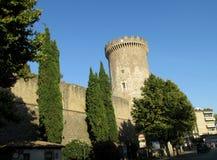 Kasztel Rocca Pia, Tivoli, Rzym zdjęcia royalty free