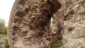 Kasztel ruiny rycerze templariusz stary w Transcarpathia zdjęcie wideo