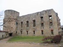 Kasztel ruiny w Cesis fotografia royalty free