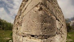 Kasztel rycerze templariusz stary w Transcarpathia kasztelu rujnuje zdjęcie wideo
