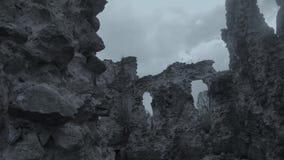 Kasztel rycerze templariusz stary w Transcarpathia kasztelu rujnuje zbiory wideo