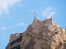Kasztel Santa Barbara, Alicante Hiszpania Obrazy Royalty Free
