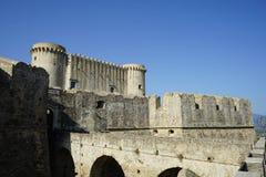 Kasztel Santa Severina Calabria, Włochy, - zdjęcie stock