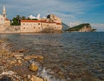 Kasztel stary miasteczko w Budva, Montenegro Zdjęcie Stock