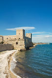 Kasztel trani Puglia Włochy Zdjęcia Royalty Free