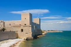 Kasztel trani Puglia Włochy Zdjęcia Stock