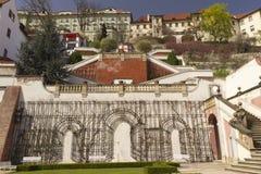 kasztel uprawia ogródek Prague zdjęcia royalty free