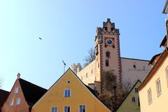 Kasztel w bavarian FÃ ¼ ssen Zdjęcia Stock
