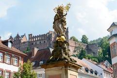 Kasztel w Heidelberg, Niemcy Obraz Royalty Free