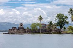 Kasztel w Rio Dulka, Gwatemala - Fotografia Royalty Free