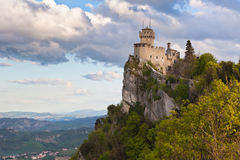 Kasztel w San Marino - los angeles Cesta lub Fratta, Seconda Torre Fotografia Royalty Free