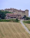 Kasztel w Val Tidone Piacenza, Włochy Zdjęcie Royalty Free