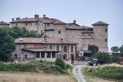 Kasztel w Val Tidone Piacenza, Włochy Zdjęcie Stock