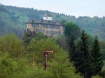 Kasztel w Vulkan Eifel Obraz Royalty Free
