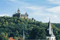 Kasztel w Wernigerode Niemcy zdjęcie royalty free
