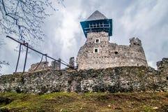 Kasztel w wiosce Nevicke, Ukraina zdjęcie stock