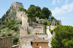 Kasztel Xativa, Hiszpania - Fotografia Royalty Free