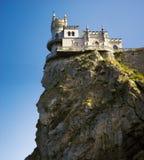 kasztel znać blisko gniazdeczka s dymówki well Yalta fotografia stock