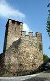 Kasztel Zumelle, w Belluno, Włochy, średniowieczne ściany Obrazy Royalty Free