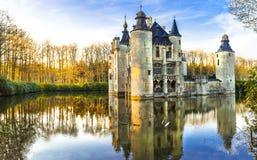kasztele Belgia, Antwerpen region zdjęcia stock