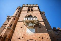 Kasztele i winnicy Tuscany, Chianti wina Włochy region fotografia stock